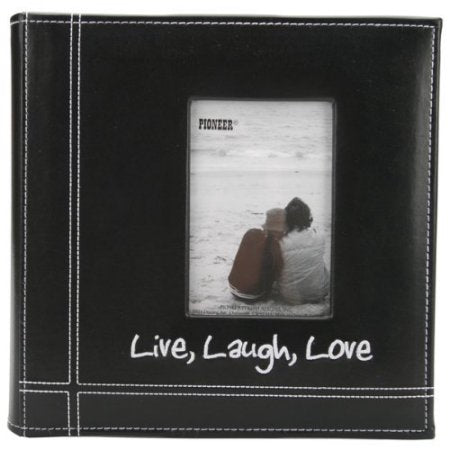 PIONEER12X12 ALBUM LIVE LAUGH LOVE EMB LEATHER