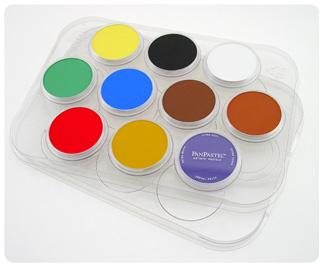 PANPASTEL PALETTE TRAY WITH LID 10 COLOURS