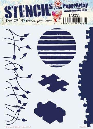 PAPER ARTSY  STENCIL BY FRANCES PAPILLON  PS229