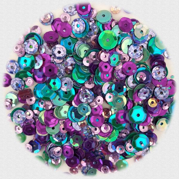 BUTTONS GALORE PREMIUM SEQUINS  WISTERIA HUES