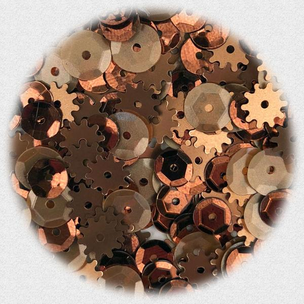 BUTTONS GALORE PREMIUM SEQUINS  RUSTY