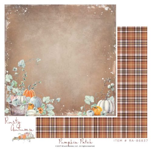 49 AND MARKET 12 X 12 PAPER RUSTY AUTUMN  PUMPKIN PATCH