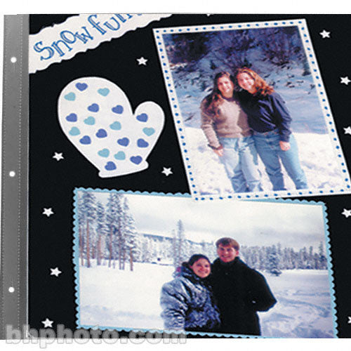 PIONEER 12X12 SCRAPBOOK REFILLS BLACK PAGES