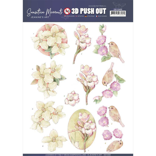 JEANINES ART  3D PUSH OUT FREESIAS