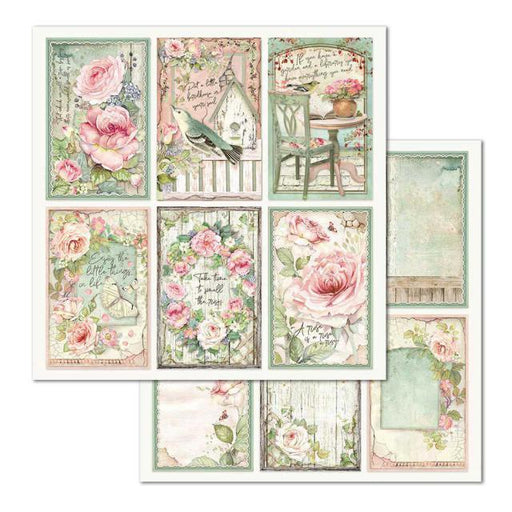 STAMPERIA 12X12 PAPER DOUBLE FACE FRAMES HOUSE OF  ROSES