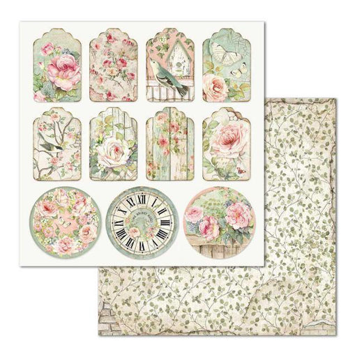 STAMPERIA 12X12DOUBLE FACE PAPER  TAG HOUSE OF  ROSES