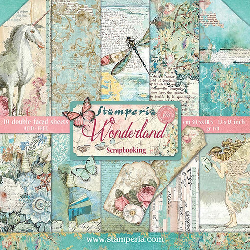 STAMPERIA 12X12 PAPER PACK WONDERLAND