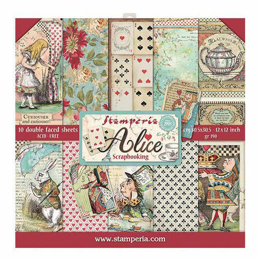 STAMPERIA 12X12 PAPER PACK ALICE