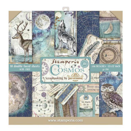 STAMPERIA 12X12 PAPER PACK COSMOS