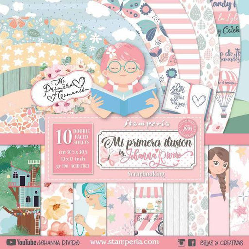 STAMPERIA 12X12 PAPER PACK  DOUBLE FACE NINA