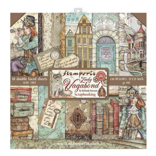 STAMPERIA 12X12 PAPER PACK LADY VAGABOND
