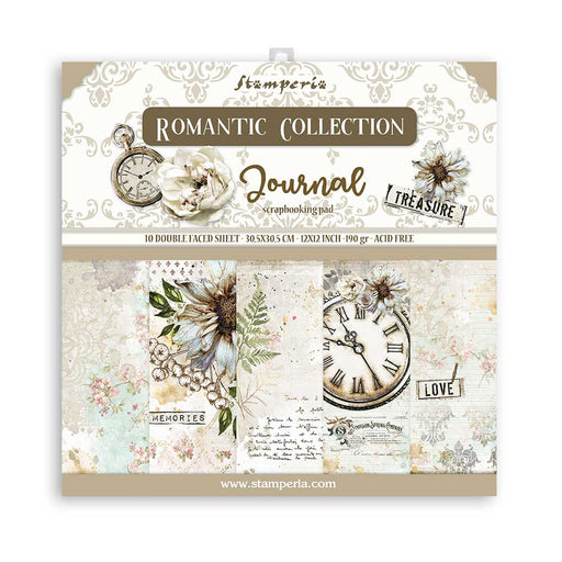 STAMPERIA 12X12 PAPER PACK  ROMANTIC JOURNAL