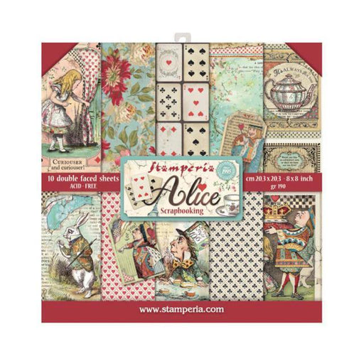 STAMPERIA 8 X 8 PAPER PACK ALICE