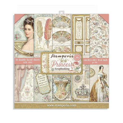 STAMPERIA 8 X 8 PAPER PACK  PRINCESS