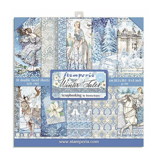 STAMPERIA 8 X 8 PAPER PACK  WINTER TALES