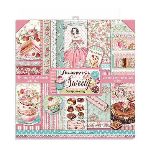STAMPERIA 8 X 8 PAPER PACK  SWEETY