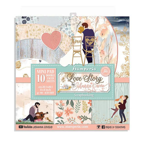 STAMPERIA 8 X 8 PAPER PACK  LOVE STORY