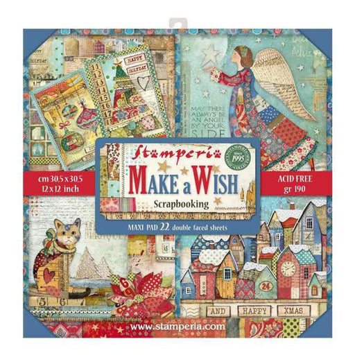 STAMPERIA 12X12 PAPER PACK MAKE A WISH LARGE