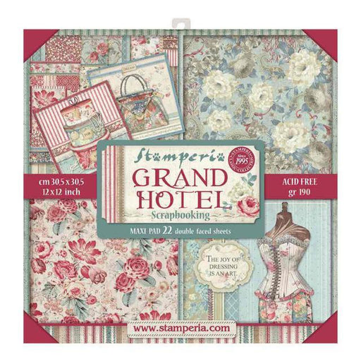 STAMPERIA 12X12 PAPER PACK  GRAND HOTEL LARGE