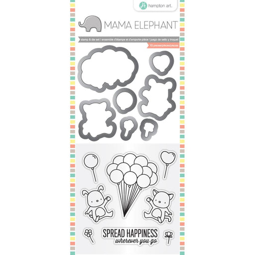 HAMPTON ART  STAMP AND DIE MAMA ELEPHANT UP WE GO