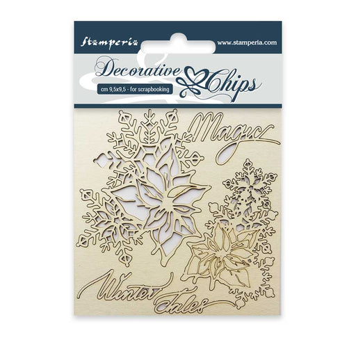 STAMPERIA DECORATIVE CHIPS 9.5X9.5 CM  MAGIC WINTER TALES