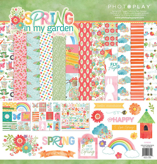 PHOTOPLAY  12 X12 COLLECTION PACK  SPRING IN MY GARDEN