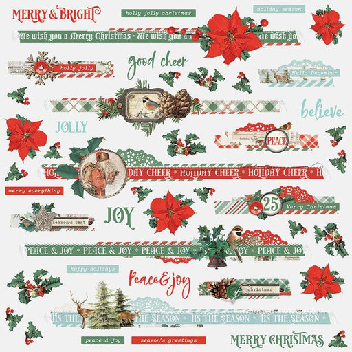 SIMPLE STORIES   12 X 12 STICKERS COUNTRY CHRISTMAS