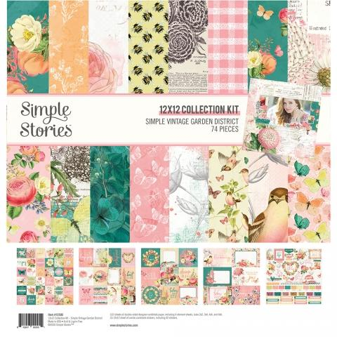 SIMPLE STORIES VINTAGE GARDEN DISTRICT 12 X 12 COLL KIT