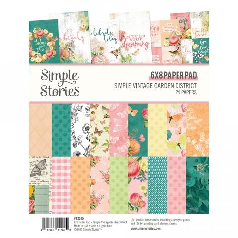 SIMPLE STORIES VINTAGE GARDEN DISTRICT 6 X 8 PAPER PAD