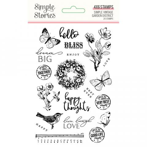 SIMPLE STORIES VINTAGE GARDEN DISTRICT 6 X 4 STAMP