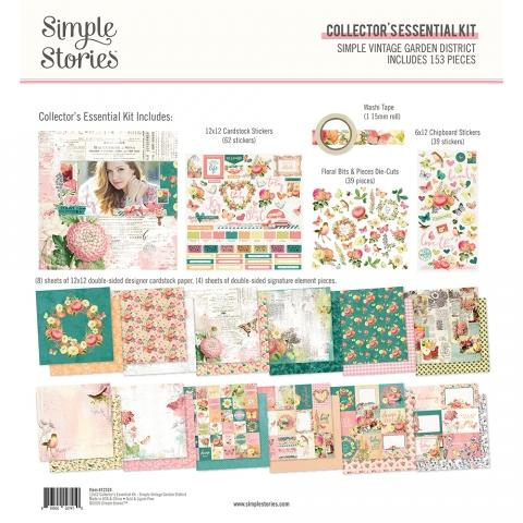 SIMPLE STORIES VINTAGE GARDEN DISTRICT 12 X 12 PACK