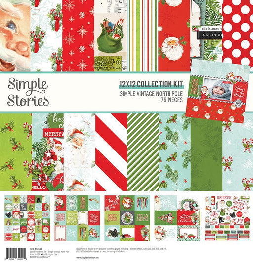 SIMPLE STORIES VINTAGE NORTH POLE 12 X 12 COLLECTION PACK