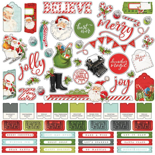 SIMPLE STORIES STCKER SHEET12 X 12 VINTAGE NORTH POLE