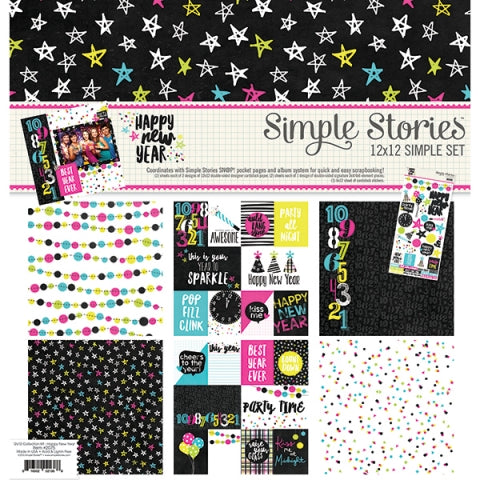 SIMPLE STORIES 12 X 12 HAPPY NEW YEAR COLLECTION KIT
