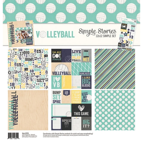 SIMPLE STORIES 12 X 12 VOLLEYBALL COLLECTION KIT