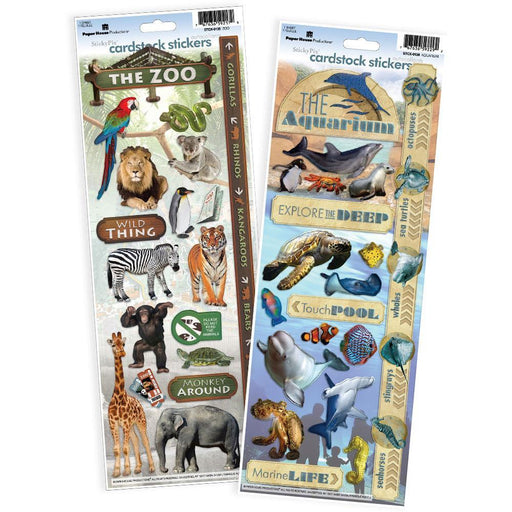 PAPER HOUSE VALUE STICKER  PACK  ZOO