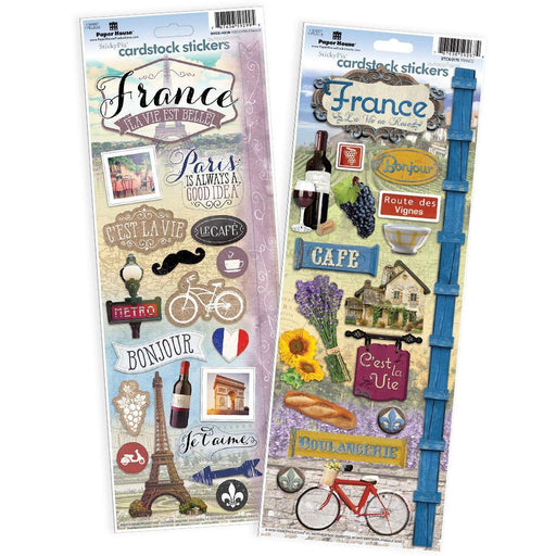 PAPER HOUSE VALUE STICKER  PACK  FRANCE