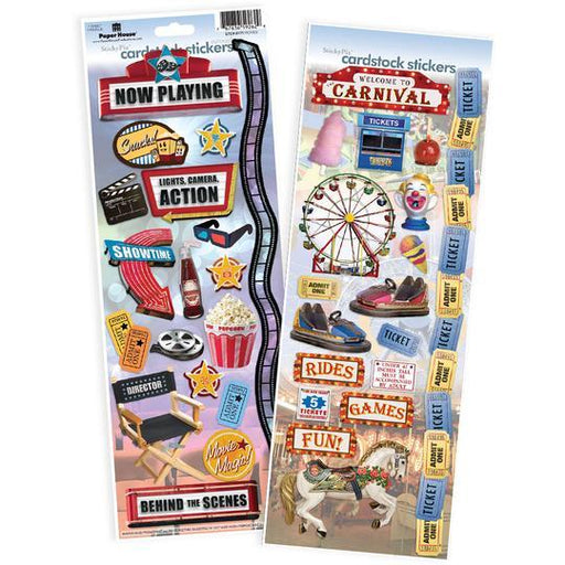 PAPER HOUSE VALUE STICKER  PACK  MOVIE AND CARNIVAL