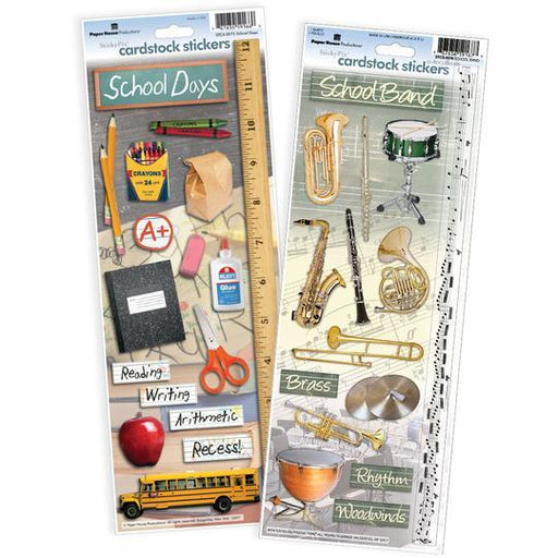 PAPER HOUSE VALUE STICKER  PACK  SCHOOL DAYS