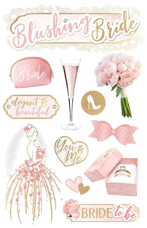 PAPER HOUSE 3D STICKER  BLUSHING BRIDE
