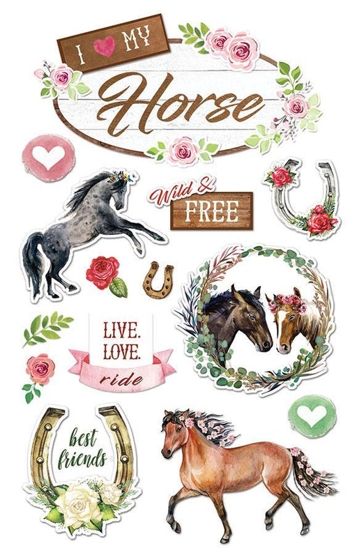 PAPER HOUSE 3D STICKER  LOVE MY HORSE
