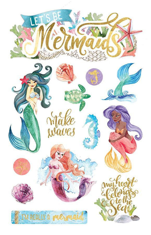 PAPER HOUSE 3D STICKER  MERMAID