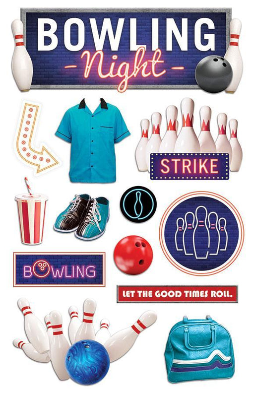 PAPER HOUSE 3D STICKER  BOWLING