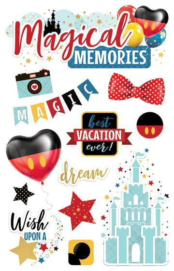 PAPER HOUSE 3D STICKER  MAGICAL MEMORIES