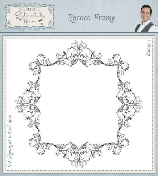 PHIL MARTIN  STAMPS ROCOCO FRAME