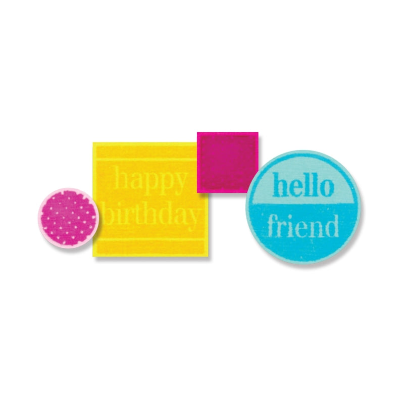 SIZZIX FRAMELITS DIES W/STAMP FRIENDLY PHRASES