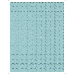SIZZIX  EMBOSSING FOLDER TEXTURE STITCHED PLAID