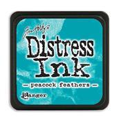 TIM HOLTZ DISTRESS MINI INK PAD PEACOCK FEATHERS
