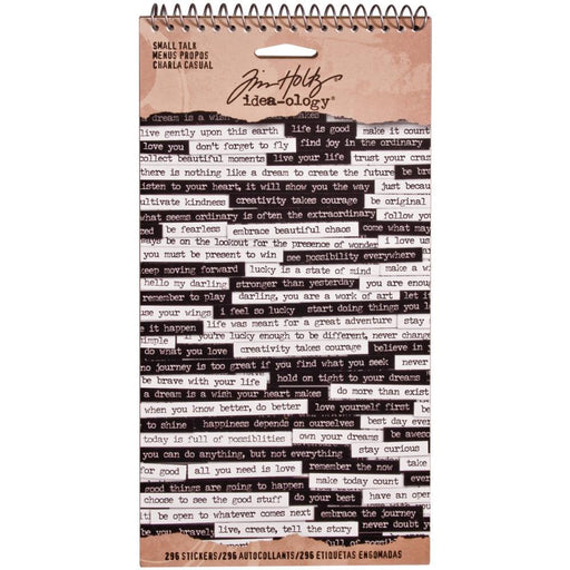 TIM HOLTZ IDEAOLOGY SMALL TALK-SPIRAL BOUND STICKRS