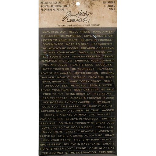 TIM HOLTZ IDEAOLOGY  METALLIC STICKERS QUOTATIONS